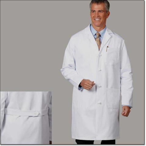 Physician Knee Length Lab Coat-Slom's Uniforms