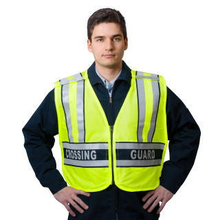 "ANSI Class 2 Breakaway Safety Vest Printed CROSSING GUARD"" - Imported-Snap N Wear"