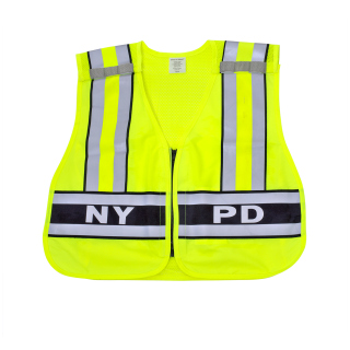 "ANSI Class 2 Breakway Safety Vest Printed ""NYPD"" - Imported-Snap N Wear"