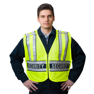 "ANSI Class 2 Breakaway Safety Vest Printed ""SECURITY"" - Imported-Snap N Wear"