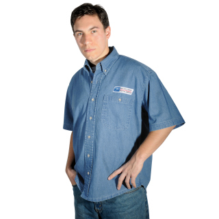 Postal Denim Shirt Short Sleeve - Imported-