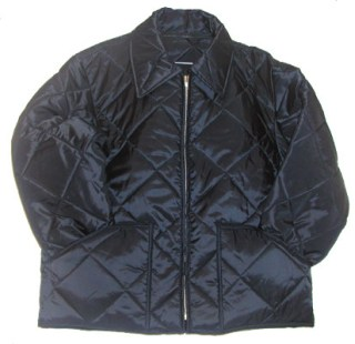 Quilted Jacket with Self Collar & Knit Cuffs - Domestic-