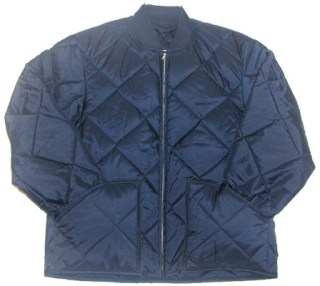 Industrial Quality Quilted Jacket with Knit Collar & Cuffs - Domestic-