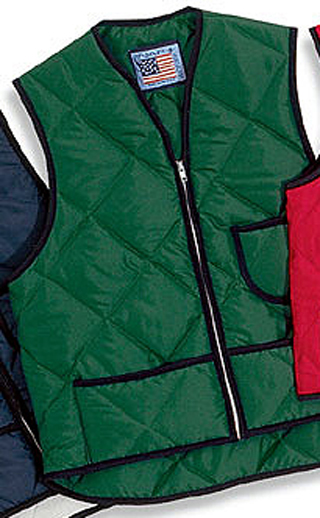 Quilted Nylon Vest with Kidney Flap - Domestic-