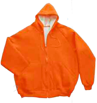 Fluorescent Orange Sweat Jacket, Super Heavy Weight - Domestic-