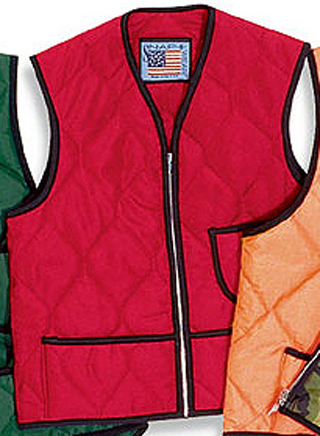 Quilted Nylon Vest without Kidney Flap - Domestic-