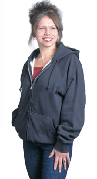 5100_Thermal-Lined, Hooded Sweatshirt with Zipper Front - Import