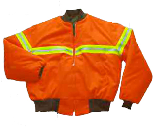 Polyester Oxford, Fluorescent Orange Tanker Jacket with Tape - Domestic
