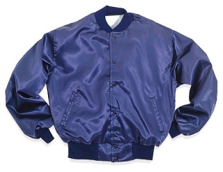 Nylon Satin Baseball Jacket - Domestic-