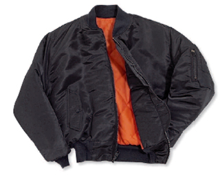 Nylon Satin Flite Jacket with Quilt Lining - Domestic-