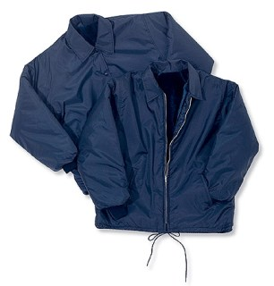 Pile-Lined Windbreaker with Snap Front & Knit Cuffs - Domestic-