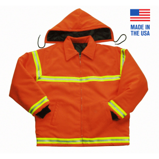Polyester Oxford Jacket with Reflective Tape - Domestric-
