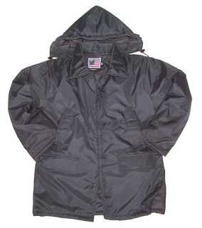 Nylon Parka with Zip-Off Hood - Imported