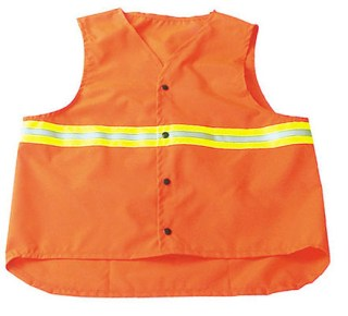 Safety Vest with Two Tone Reflective Tape - Domestic