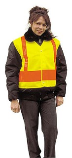Safety Vest with Adjustable Snap Closure - Imported