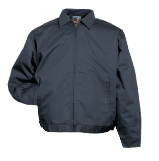 Twill Work Jacket with Fixed Adjustable Waistband - Imported