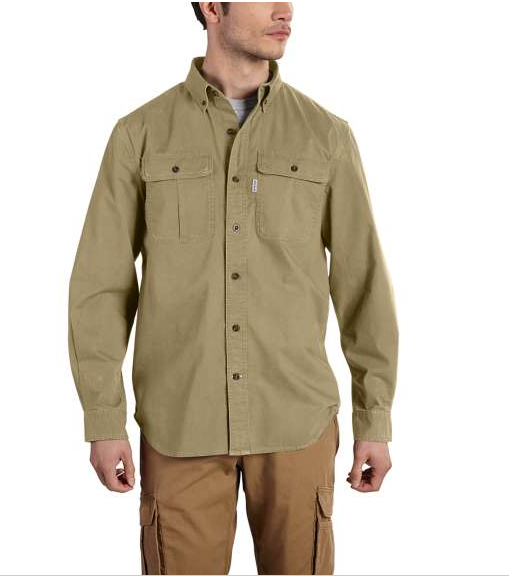 Mens Foreman Solid Long Sleeve Work Shirt