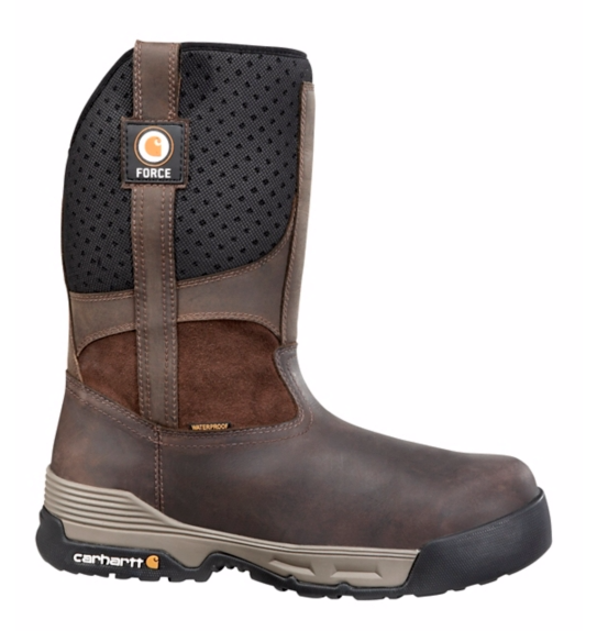 "Carhartt Force 10"" Brown Waterproof Pull On-"