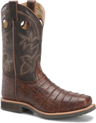 """12"""" Wide Square Safety Toe Roper -Double H"""