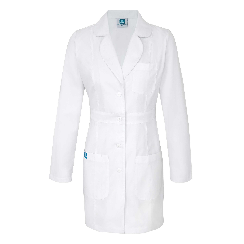 ADAR Universal Womens 33 Adjustable Belt Lab Coat-Adar Medical Uniforms