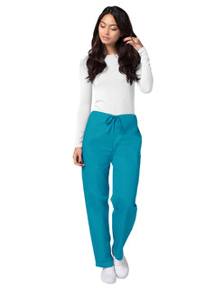 2513 ADAR Universal Unisex Natural-Rise 5 Pocket Drawstring Tapered Pants-Adar Medical Uniforms