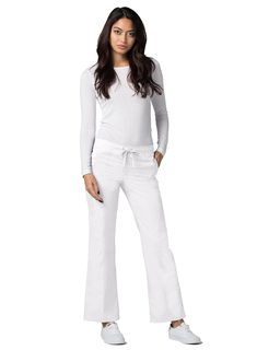 Adar Universal Mid-Rise Front Stitched Straight Leg Scrub Pants-