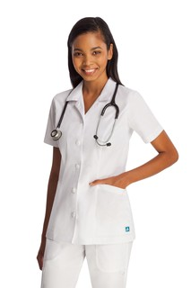 ADAR Universal Lapel Collar Buttoned Top-Adar Medical Uniforms