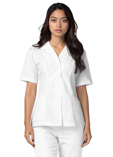 ADAR Universalapel Collar Buttoned Top-Adar Medical Uniforms