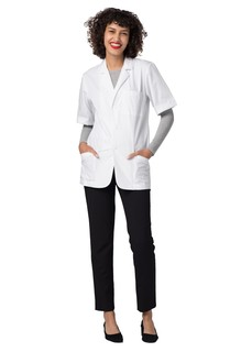 Adar Universal 31 Unisex Short Sleeve Consultation Coat-Adar Medical Uniforms