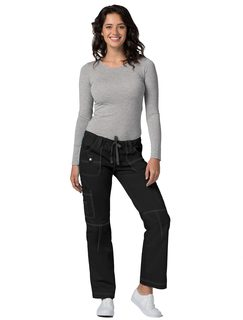 Adar Pop-Stretch Junior Fit Low Rise Multi Pocket Straight Leg Pants