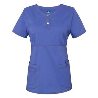 3204 Adar Pop-Stretch Junior Fit Taskwear Empire Henley Top-Adar Medical Uniforms
