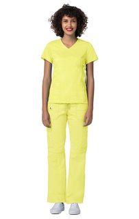 ADAR Pop-Stretch Junior Fit Mock Wrap Tie Top-Adar Medical Uniforms