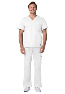 ADAR Pop-tretch ens Contemporary Vneck Top-Adar Medical Uniforms