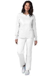 ADAR Pop-Stretch Junior Fit Zip Front Warm Up Jacket-Adar Medical Uniforms