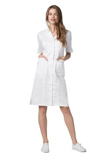 Adar Pop-tretch Junior Fit hort leeve Back-mocked Dress-Adar Medical Uniforms