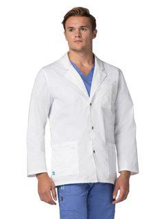 """Adar UniversalTRETCHens 31""""nap Frontab Coat-Adar Medical Uniforms"""