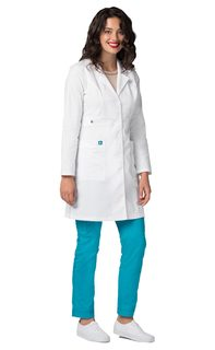 Adar Pop-Stretch Junior Fit Womens 36 Tab-Waist Lab Coat-Adar Medical Uniforms