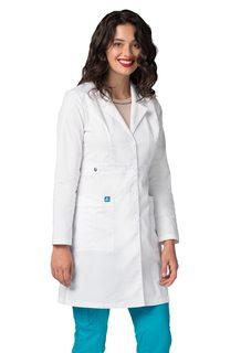 "Adar UniversalTRETCH Womens 36"" Tab-Waistab Coat-Adar Medical Uniforms"