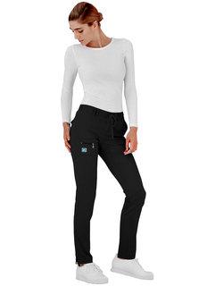 Adar Indulgence Jr. Fit Low Rise Tapered Leg 6 Pocket Drawstring Pants