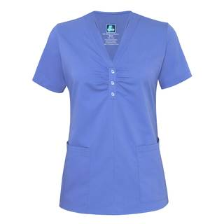 4202 Adar Indulgence Jr. Fit Scarf Neck Top-Adar Medical Uniforms