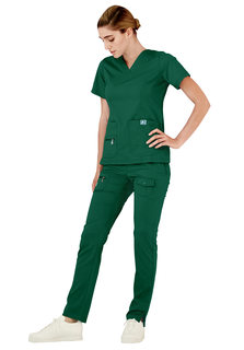 4212 Adar Indulgence Jr. Fit Enhanced V-neck Top-Adar Medical Uniforms