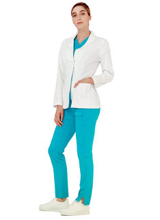 "Adar Indulgence Womens 28"" Pin Tucked Consult Jacket-Adar Medical Uniforms"