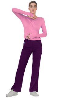 4500 Adar Indulgence Long Sleeve Fitted Luxury Tee-Adar Medical Uniforms