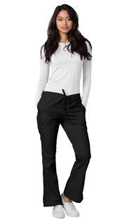 Adar Universal Flare eg Natural-Rise Drawstring Pants-Adar Medical Uniforms