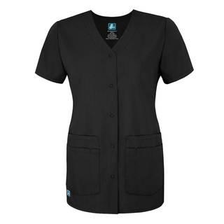 Adar Universal Double Pocket Snap Front Top-Adar Medical Uniforms