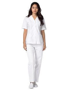 Adar Universal Lapel Collar Nurse Top-