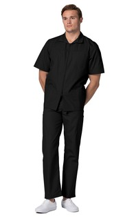 Adar Universal Mens Zippered Short Sleeve Jacket-