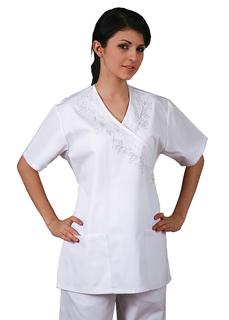 Adar Universal Mock Wrap w/ Embroidered Front-Adar Medical Uniforms