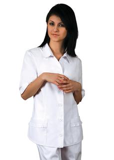 Adar Universal Button Down Ruffle Pocket Top-Adar Medical Uniforms