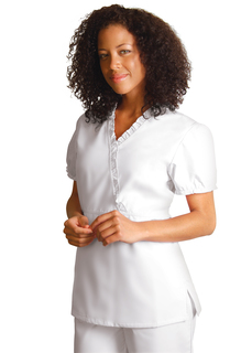 Adar Universal Baby Doll Ruffle Top-Adar Medical Uniforms